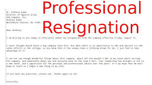 Resignation Letter Free Samples - Kleo.beachfix.co