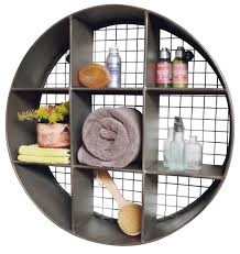 turn storage into wall art industrial style wall display unit small round metal wall shelf photo of small wall shelf unit