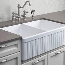 alfi farmhouse sink alfi brand 32 inch fluted double bowl fireclay farmhouse kitchen sink