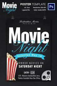 Free Movie Night Flyer Templates Free Movie Poster Template Best Of Movie Night Flyer