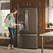 ge slate refrigerator. 63 Most Marvelous Kitchen Furniture Slate Appliances With Contemporary Ge French Door Refrigerator Cu Ft Gray Design Modern Shellie R Thompson Has S
