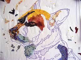 240 best ART QUILT TUTORIALS images on Pinterest | Art quilting ... & Making a Pattern for a Fabric Collage Quilt Adamdwight.com