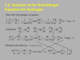7 2 solution of the schrödinger equation for hydrogen
