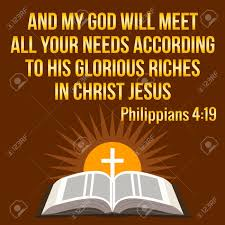 Citation De Motivation Chrétienne Et Mon Dieu Pourvoira à Tous Vos Besoins Selon Sa Richesse Glous En Jésus Christ Notion Bible