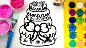 Birthday Cakes Coloring Pages Wumingme