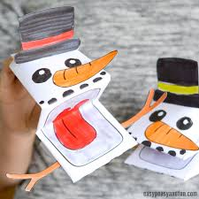 Template Of A Snowman Printable Snowman Puppet Easy Peasy And Fun