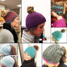 Free Crochet Hat Pattern With Ponytail Hole Interesting Crochet Ponytail Hat