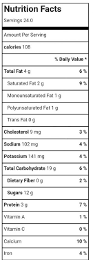 Dq Nutrition Chart Moo Milk Nutrition Facts Easy Health