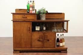 Art Deco Sideboard Server Or Bar Cabinet Oak Rosewood Scandinavia 29242