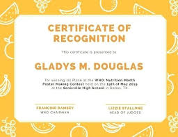 Sample Certificate Of Recognition For Parents Naveshop Co