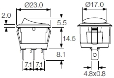 round rocker switches r13 series and r92 series indicator bulgin R13 135 Switch Wiring Diagram R13 135 Switch Wiring Diagram #42 Old Massey Ferguson Wiring Diagrams