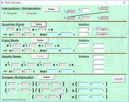 root calculator is another free factoring quadratics calculator for windows you can easily find roots of a quadratic equation using this freeware