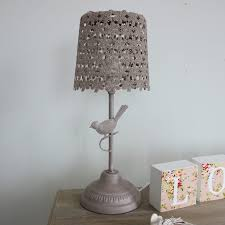 mocha bird table lamp a beautiful neautral table lamp bedroom french shabby chic table lamps trends