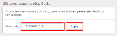 redeem ebay gift card at checkout