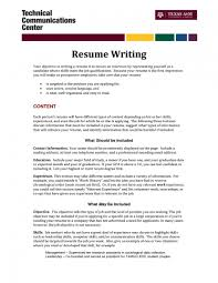 Example Of An Objective On A Resume Example Of An Objective On A