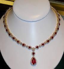custom ruby and diamond necklace