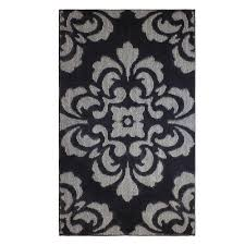 portico flat gray 2 ft x 4 ft area rug
