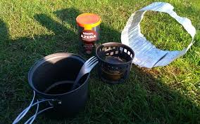 alcohol stove windscreens hike for