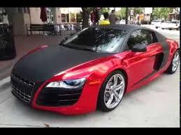 audi r8 convertible matte black. Delighful Black Red Chrome Wrapped Audi R8  Convertible Ferrari California And Matte Black T