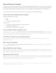 Resume Template Format Interesting Word Resume Templates With Regard To Free Business Letter Template