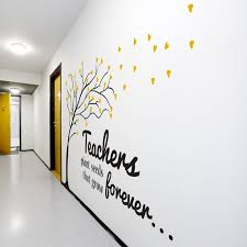 wall decoration ideas for school office
