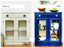 refreshing furniture with spray paint before and after
