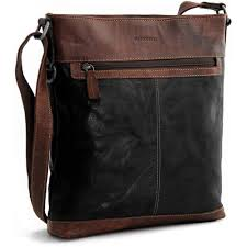 jack georges voyager cross bag 7312 with top zip closure in vegetable re tanned buffalo leather