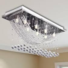 white ceiling lamp with glittering glass crystal beads 8 x g9 29 cm 1