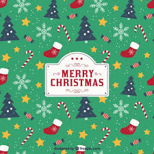 Christmas Pattern Background Cool Christmas background with pattern style Vector Free Download