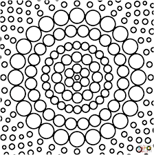 Circle Mandala Coloring Page From Geometric