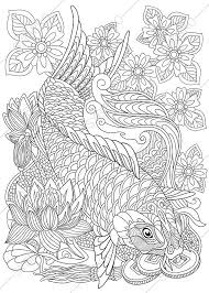 Small Picture Carp Koi Fish Coloring Page Adult coloring by ColoringPageExpress