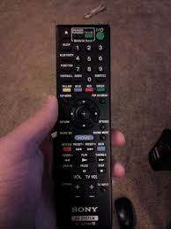 sony tv remote netflix. american here. football button and netflix button. sony tv remote