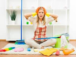 girl confused which carpet cleaner to use