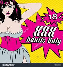 Xxx Adults Only 18 Pop Art Stock Vector 235650805 Shutterstock