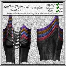 Leather Templates Second Life Marketplace Cm Leather Female Chained 5 Top Templates