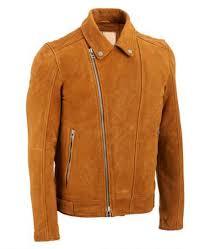 more views biker brown suede leather jacket