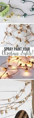 Image Apartment String Light Diy Ideas For Cool Home Decor Spray Painted Christmas Lights Are Diy Loop Diy Crafts Ideas String Light Diy Ideas For Cool Home Decor