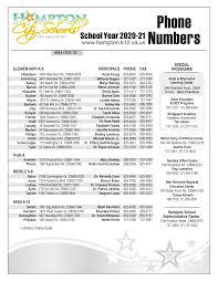 Phone list 17-18