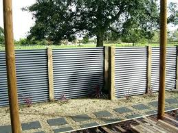 corrugated metal privacy fence. Fine Metal Corrugated Metal Fence Cost How To Build A  Privacy Tin For
