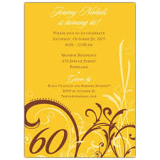 60 birthday invitations cabiri gold 60th birthday invitations paperstyle
