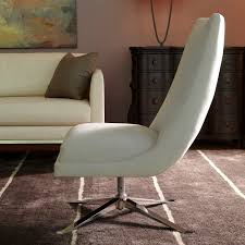 Leather Swivel Chairs For Living Room Furniture American Leather Hugo Swivel Chair Living Room Chairs