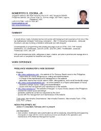 Prepossessing Resume Template Sample Singapore On Resume Template