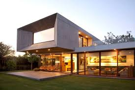 modern concrete home plans lighting modern house plan