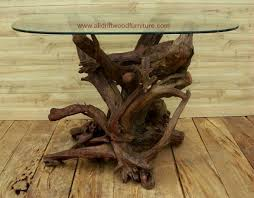 an architectural interior design coffee table 54 x 32 glass top 1450 00 for the driftwood base
