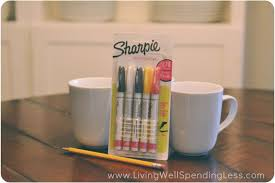 gather mugs and oil based sharpies to make these adorable diy sharpie mugs