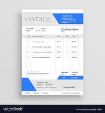 invoice template design modern business invoice template design royalty free vector