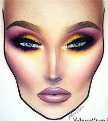 drawn makeup face chart 5