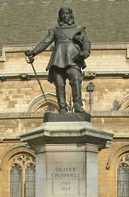 oliver cromwell hero or villain facts timeline com statue of oliver cromwell outside of palace of westminster