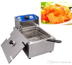 electric stainless steel commercial countertop deep fryer 220v 2200w 6l or 12l mexican cookware meyer cookware from janicerong 150 7 dhgate com