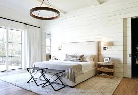 wall sconce lighting ideas bedroom wall sconce. Exellent Sconce Shiplap In Bedroom Wall Sconce Lighting Farmhouse With White Drapes  Clocks Ideas Intended O